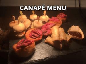 Canape Sample Menu Link