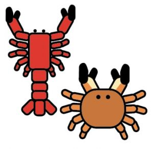Crustaceans such as crabs and shrimps are allergens