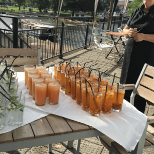Reception drinks at an event in Birmingham