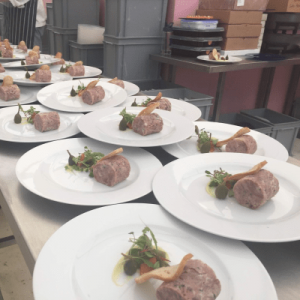 Preparing the main course for a promotional event in Birmingham