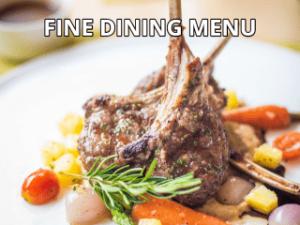 Fine Dining Sample Menus Link