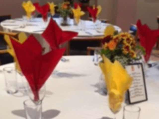 Table setting in the function room