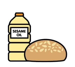 Sesame oil and sesame nuts are allergens