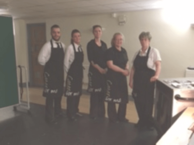 Our catering team for the event