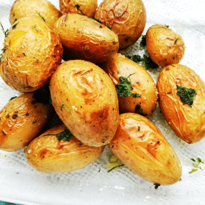 Delicious and crispy roast potatoes for a crew catering carvery